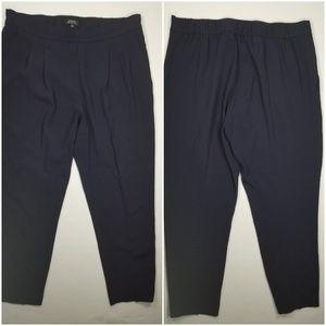 Aritzia Babaton Slim Leg Pleated Trousers Sz e